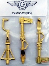 G-Factor  1/32 Do.335 Brass Landing Gear for HKM (D)<!-- _Disc_ --> GFM32037