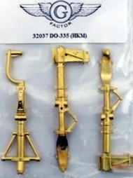 G-Factor  1/32 Do.335 Brass Landing Gear for HKM (D)<!-- _Disc_ --> GFM32037