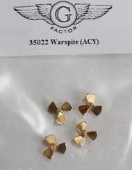 G-Factor  1/350 HMS Warspite Brass Propellers for ACY (4) (D)<!-- _Disc_ --> GFM35022