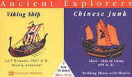 "Glencoe Models  1/120 Ancient Explores: Viking Ship 3-1/2"" & Chinese Junk 1-1/2"" GLM3301"
