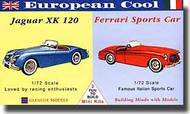 Glencoe Models  1/72 Jaguar XK 120 & Ferrari Sports Car GLM3604