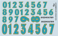 Gofer Racing  1/24-1/25 Stock Car Numbers #1 (Blue) GOF11013