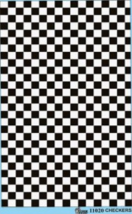 Gofer Racing  1/24-1/25 Checkers (Black/White) GOF11020
