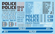 Gofer Racing  1/24-1/25 Modern Police Graphics GOF11024