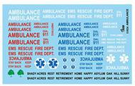 Gofer Racing  1/25 AMBULANCE DECALS GOF11026