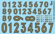 Gofer Racing  1/24-1/25 Stock Car Numbers #3 (Gold) GOF11028
