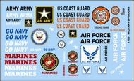 Gofer Racing  1/24-1/25 Armed Services Military Logos GOF11031