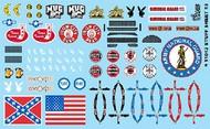 Gofer Racing  1/24-1/25 Stuff Sheet #4 - Confederate/ American Flags, Seatbelts, Mug Root Beer, Playboy Logo, etc. GOF11042