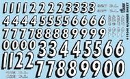 Gofer Racing  1/24-1/25 Number Sheet (White w/Black Outline) GOF11046