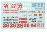 Gofer Racing  1/24-1/25 1956 Ford Curtis Turner Race Car Graphics GOF12002