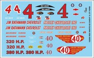 Gofer Racing  1/24-1/25 1962 Chevy & 1937 Ford Rex White Graphics GOF12006