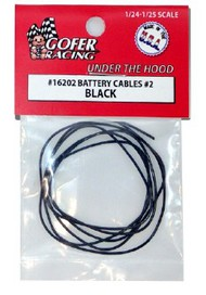 Gofer Racing  1/24-1/25 Battery Cables Black GOF16202