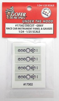 Gofer Racing  1/24-1/25 Race Car Instrument Panel & Gauges White (Diecut Plastic) GOF17302