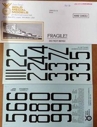WW2 USN Carrier Number Decals #GMM3507D