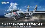 USN F-14D Tomcat VF2 Bounty Hunters Fighter #GWHL7203