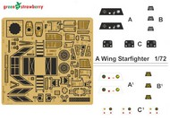 Green Strawberry  1/72 Star Wars A-Wing Starfighter Detail Set for BAN (Photo-Etch) GSW1916