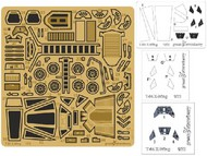 Green Strawberry  1/72 Star Wars T65 X-Wing Fighter Detail Set for BAN (Photo-Etch) GSW2917