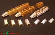 Green Strawberry  1/350 WorkBee #1: Cargo, Passenger, Tanker Trains & Grabber Packs (Photo-Etch & Resin) GSW414