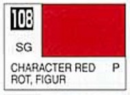 Gunze Sangyo  Gunze Semi-Gloss Solvent-Based Acrylic Semi-Gloss Character Red 10ml Bottle GUZ108