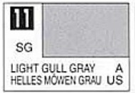 Gunze Sangyo  Gunze Semi-Gloss Solvent-Based Acrylic Semi-Gloss Light Gull Gray 10ml Bottle GUZ11