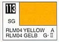 Gunze Sangyo  Gunze Semi-Gloss Solvent-Based Acrylic Semi-Gloss Yellow RLM04 10ml Bottle GUZ113
