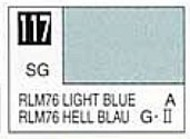 Gunze Sangyo  Gunze Semi-Gloss Solvent-Based Acrylic Semi-Gloss Light Blue RLM76 10ml Bottle GUZ117