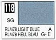 Gunze Sangyo  Gunze Semi-Gloss Solvent-Based Acrylic Semi-Gloss Light Blue RLM78 10ml Bottle GUZ118