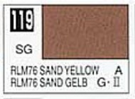 Gunze Sangyo  Gunze Semi-Gloss Solvent-Based Acrylic Semi-Gloss Sandy Yellow RLM76 10ml Bottle GUZ119