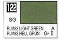 Gunze Sangyo  Gunze Semi-Gloss Solvent-Based Acrylic Semi-Gloss Light Green RLM82 10ml Bottle GUZ122