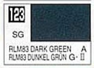Gunze Sangyo  Gunze Semi-Gloss Solvent-Based Acrylic Semi-Gloss Dark Green RLM83 10ml Bottle GUZ123