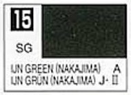 Gunze Sangyo  Gunze Semi-Gloss Solvent-Based Acrylic Semi-Gloss IJA Green Nakajima 10ml Bottle GUZ15