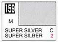 Solvent-Based Acrylic Metallic Super Silver 10ml Bottle #GUZ159