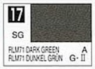 Gunze Sangyo  Gunze Semi-Gloss Solvent-Based Acrylic Semi-Gloss Dark Green RLM71 10ml Bottle GUZ17