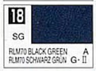 Gunze Sangyo  Gunze Semi-Gloss Solvent-Based Acrylic Semi-Gloss Black Green RLM70 10ml Bottle GUZ18