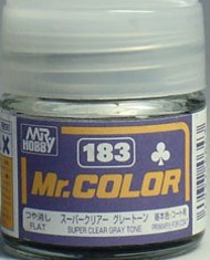 Gunze Sangyo  Gunze Semi-Gloss Solvent-Based Acrylic Semi-Gloss Super Gray Tone 10ml Bottle (D)<!-- _Disc_ --> GUZ183