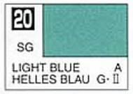 Gunze Sangyo  Gunze Semi-Gloss Solvent-Based Acrylic Semi-Gloss Light Blue 10ml Bottle GUZ20