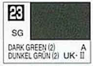 Gunze Sangyo  Gunze Semi-Gloss Solvent-Based Acrylic Semi-Gloss Dark Green 10ml Bottle GUZ23