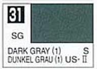 Gunze Sangyo  Gunze Semi-Gloss Solvent-Based Acrylic Semi-Gloss Dark Gray 1 10ml Bottle GUZ31