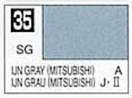 Gunze Sangyo  Gunze Semi-Gloss Solvent-Based Acrylic Semi-Gloss IJN Gray Mitsubishi 10ml Bottle GUZC035