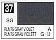 Gunze Sangyo  Gunze Semi-Gloss Solvent-Based Acrylic Semi-Gloss Gray Violet RLM75 10ml Bottle GUZC037