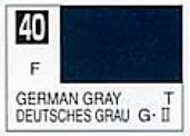 Gunze Sangyo  Gunze Flat Solvent-Based Acrylic Flat German Gray 10ml Bottle GUZ40