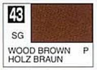 Gunze Sangyo  Gunze Semi-Gloss Solvent-Based Acrylic Semi-Gloss Wood Brown 10ml Bottle GUZC043