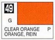 Gunze Sangyo  Gunze Gloss Solvent-Based Acrylic Gloss Clear Orange 10ml Bottle GUZ49