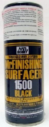 Gunze Sangyo  Gunze-Surfacer Mr. Finishing Surfacer 1500 Black 170ml (Spray) GUZ526