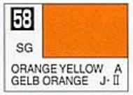 Gunze Sangyo  Gunze Semi-Gloss Solvent-Based Acrylic Semi-Gloss Orange Yellow 10ml Bottle GUZC058