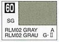 Gunze Sangyo  Gunze Semi-Gloss Solvent-Based Acrylic Semi-Gloss Gray RLM02 10ml Bottle GUZC060