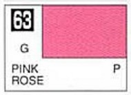 Gunze Sangyo  Gunze Gloss Solvent-Based Acrylic Gloss Pink 10ml Bottle GUZ63