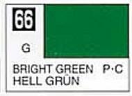 Gunze Sangyo  Gunze Gloss Solvent-Based Acrylic Gloss Bright Green 10ml Bottle GUZC066