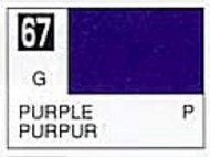 Gunze Sangyo  Gunze Gloss Solvent-Based Acrylic Gloss Purple 10ml Bottle GUZC067