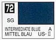 Gunze Sangyo  Gunze Semi-Gloss Solvent-Based Acrylic Semi Intermediate Blue 10ml Bottle GUZC072
